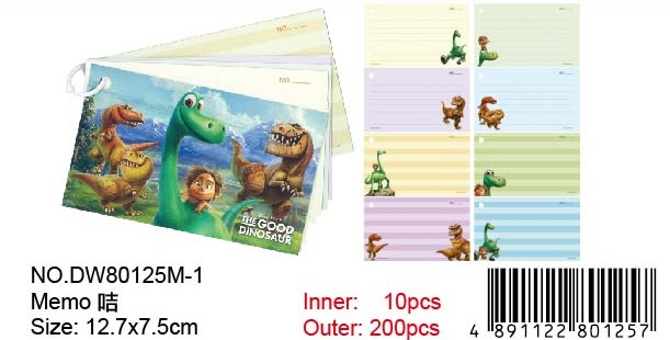 THE GOOD DINOSAUR MEMO CARD
