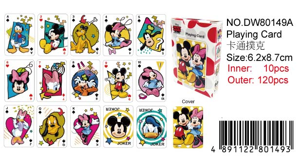 MICKEY PLAYING CARD