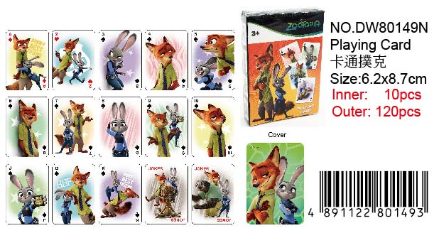 ZOOTOPIA PLAYING CARD