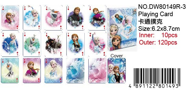 FROZEN PLAYING CARD