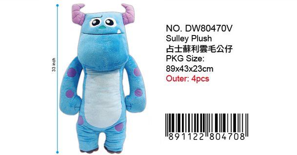 MONSTERS U. MO MO PLUSH