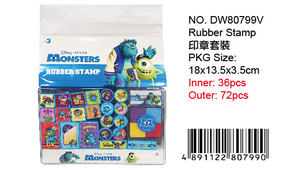 MONSTERS U. RUBBER STAMP