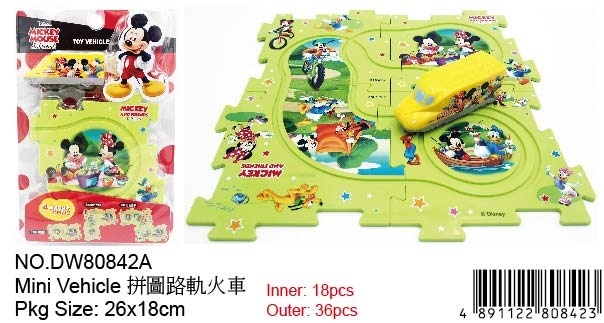 MICKEY TRAIN SET