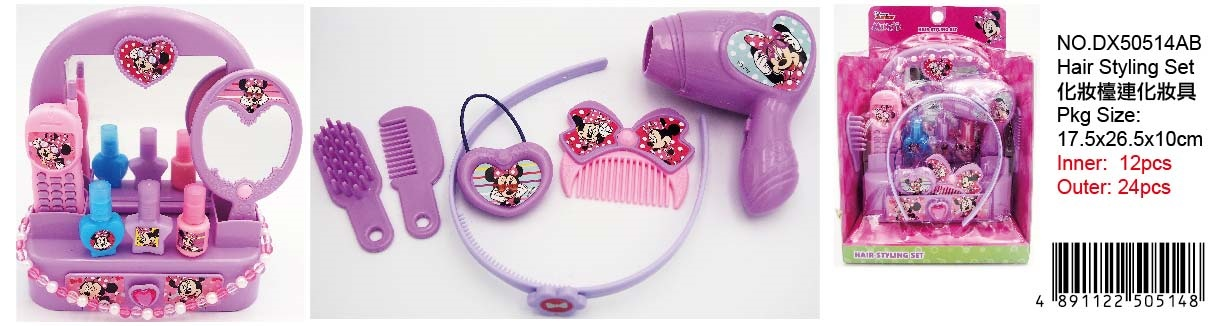 MINNIE HAIR STYLING SET