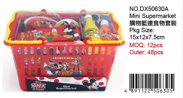 MICKEYSHOPPING BASKET WITH FOOD