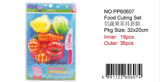 PEPPA PIG MINI CUTTING FOOD SET