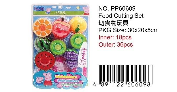 PEPPA PIG CUTTING FRUIT SET